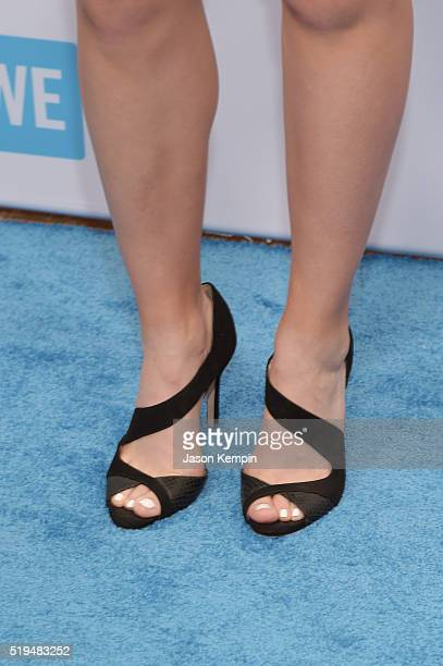 Black tennis shoes getty images tennis player nicole gibbs pedicure and shoe details attends the we day celebration dinner at the voltagebd Image collections