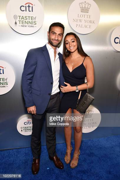 Tennis player Noah Rubin and Janie Weissler attend the Citi Taste Of Tennis gala on August 23 2018 in New York City