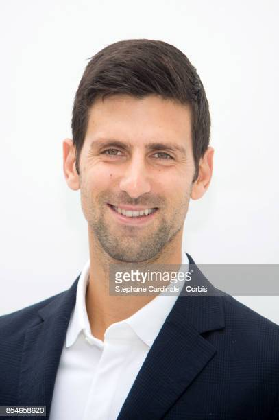 Tennis Player Novak Djokovic attends the Lacoste show as part of the Paris Fashion Week Womenswear Spring/Summer 2018 at on September 27, 2017 in...