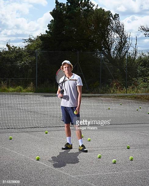 Tennis player on court.