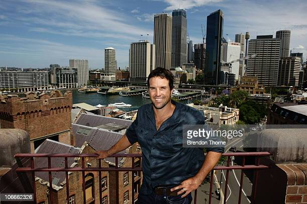 Tennis player Pat Rafter of Australia poses during a media session for the Champions Downunder Tournament at Events NSW on November 10 2010 in Sydney...