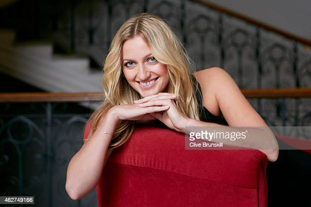 Tennis player Petra Kvitova is photographed on December 17 2014 at the town hall in Olomouc Czech Republic Dress designed by Klara Nademlynska
