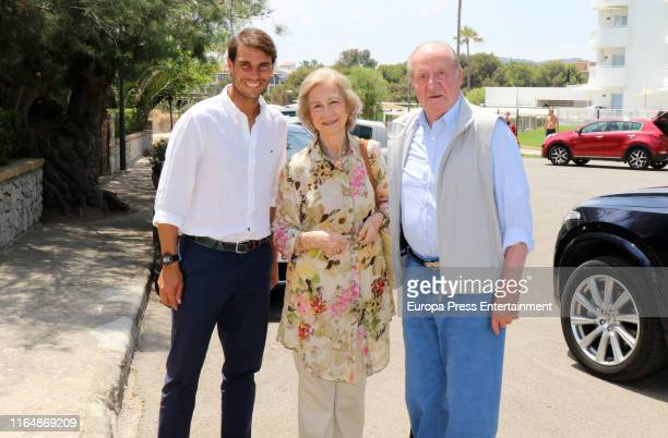 Tennis Player Rafa Nadal and Spanish Royals have lunch in Mallorca after visiting Rafa Nadal Sport Center in Manacor on July 26, 2019 in Mallorca,...