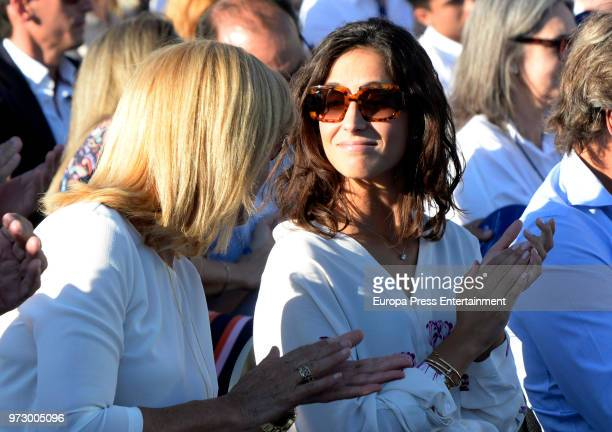 Tennis player Rafa Nadal's mother Ana Maria Parera and girlfriend Xisca Perello attend the graduation ceremony of Rafa Nadal Academy's International...