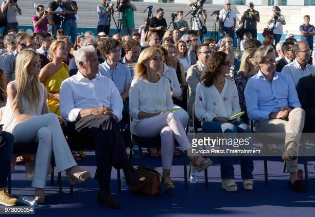 Tennis player Rafa Nadal's sister Isabel Nadal father Sebastian Nadal mother Ana Maria Parera and girlfriend Xisca Perello attend the graduation...