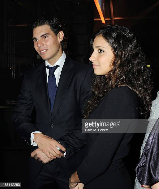 Tennis player Rafael Nadal and Maria Francisca Perello attend 'A Night With The Stars' Barclays ATP World Tour Finals Gala hosted by Great Ormond...