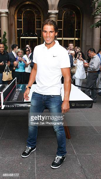 Tennis Player Rafael Nadal attends Ping Pong Party celebration Honoring Rafael Nadal at The New York Palace Hotel on August 27 2015 in New York City