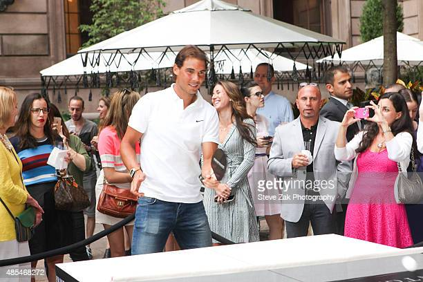 Tennis Player Rafael Nadal attends the Ping Pong Party celebration honoring Rafael Nadal at The New York Palace Hotel on August 27 2015 in New York...