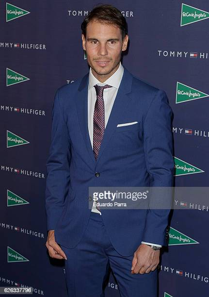 Tennis player Rafael Nadal attends the 'Tommy Hulfiger' photocall at El Corte Ingles store on November 28 2016 in Madrid Spain