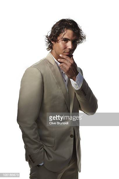 Tennis player Rafael Nadal poses for a portrait shoot in Majorca on July 29 2010