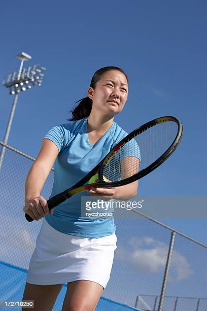 tennis player ready to serve - match point scoring stock pictures, royalty-free photos & images