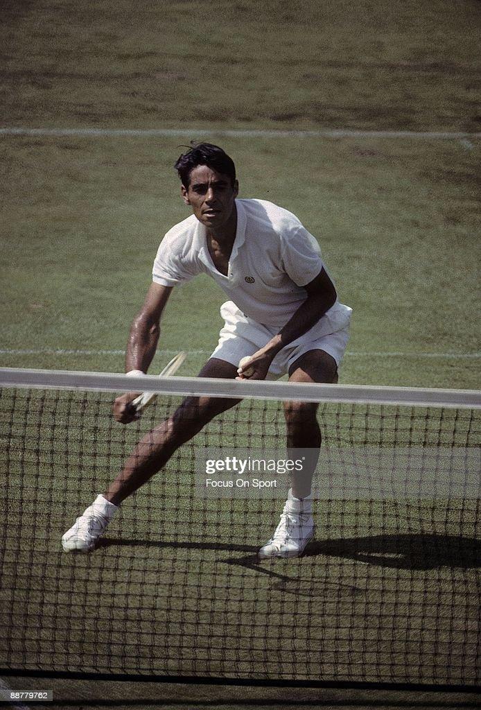 1968 U.S. Open Tennis Champinship, Richard Pancho Gonzales : News Photo