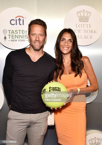 Tennis player Robert Lindstedt and Tina Corinteli attend the Citi Taste Of Tennis gala on August 23 2018 in New York City