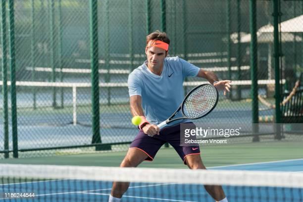 Tennis Player Roger Federer poses for a portrait on November 24, 2016 in Paris, France.