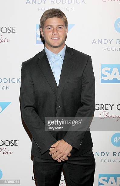 Tennis player Ryan Harrison walks the red carpet during the 7th Annual Andy Roddick Foundation Gala at ACL Live on September 21 2012 in Austin Texas