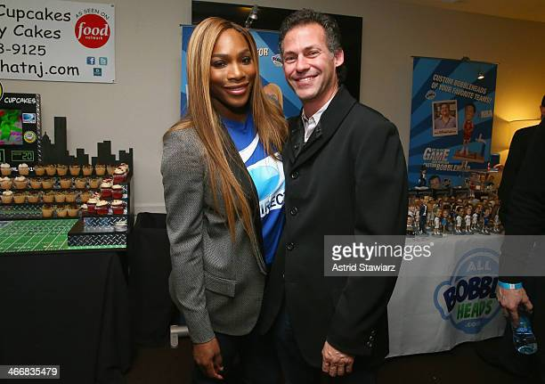 Tennis player Serena Williams and founder of GBK Productions Gavin Keilly attends DirecTV Beach Bowl 2014 at the Gansevoort Hotel on February 1 2014...