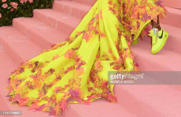 Tennis player Serena Williams arrives for the 2019 Met Gala at the Metropolitan Museum of Art on May 6 in New York The Gala raises money for the...