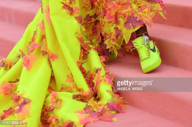 US tennis player Serena Williams arrives for the 2019 Met Gala at the Metropolitan Museum of Art on May 6 in New York The Gala raises money for the...