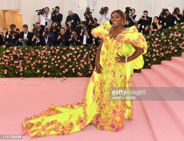 Tennis player Serena Williams arrives for the 2019 Met Gala at the Metropolitan Museum of Art on May 6 in New York. - The Gala raises money for the...
