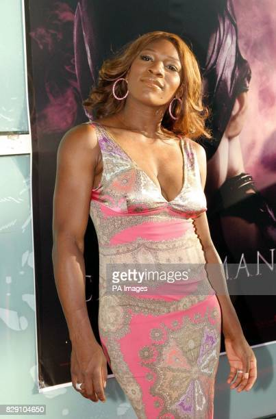 Tennis player Serena Williams arrives for the premiere of the film Catwoman held at the Cinerama Dome Theatre Los Angeles USA