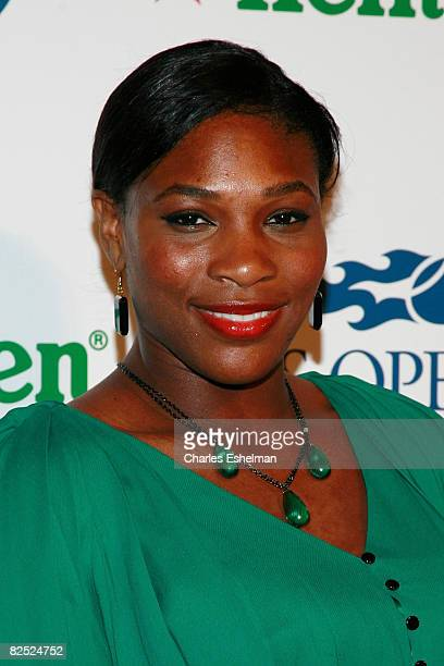 Tennis player Serena Williams attends attends the US Open USTA/Heineken Premium Light Players Party at the Empire Hotel on August 22 2008 in New York...