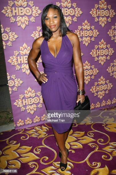 Tennis player Serena Williams attends HBO after party for the 59th Primetime Emmy Awards at The Pacific Design Center on September 16 2007 in Los...
