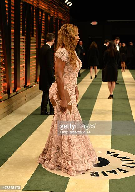 Tennis player Serena Williams attends the 2014 Vanity Fair Oscar Party Hosted By Graydon Carter on March 2 2014 in West Hollywood California