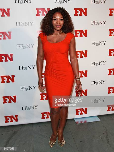 Tennis player Serena Williams attends the 25th Annual Footwear News Achievement Awards at the Museum of Modern Art on November 29 2011 in New York...