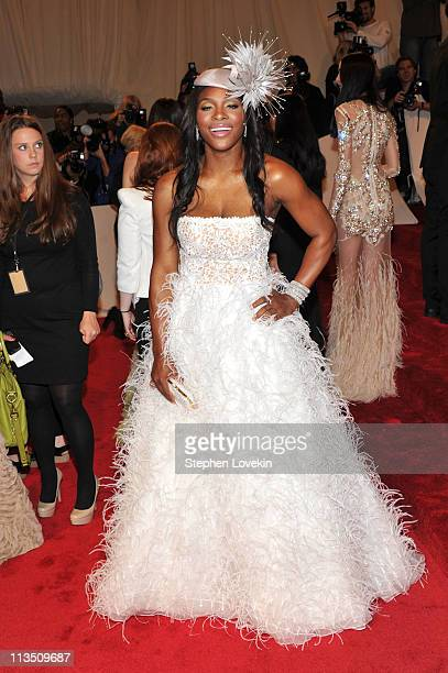 Tennis player Serena Williams attends the 'Alexander McQueen Savage Beauty' Costume Institute Gala at The Metropolitan Museum of Art on May 2 2011 in...
