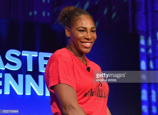 US tennis player Serena Williams attends the Citi Taste Of Tennis gala at Cipriani 42nd Street in New York City on August 23 2018