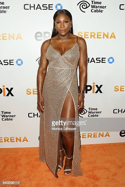 Tennis Player Serena Williams attends the EPIX New York Premiere of 'Serena' on June 13 2016 in New York City