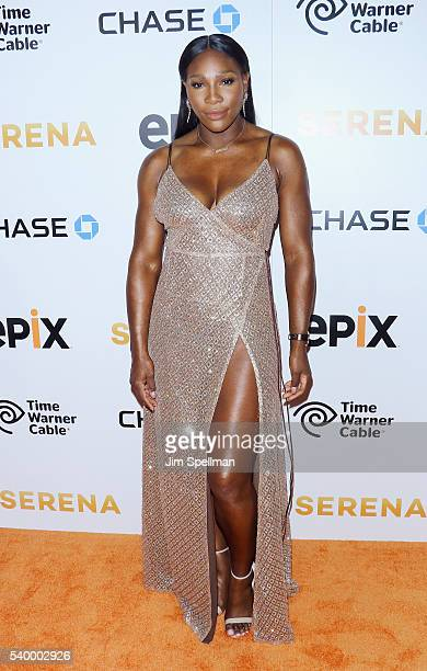 Tennis player Serena Williams attends the premiere of EPIX original documentary 'Serena' at SVA Theatre on June 13 2016 in New York City