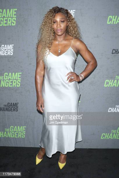 """Tennis player Serena Williams attends the """"The Game Changers"""" New York premiere at Regal Battery Park 11 on September 09, 2019 in New York City."""