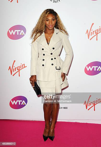 Tennis Player Serena Williams attends the WTA Pre-Wimbledon Party as guests enjoy Ciroc Vodka presented by Dubai Duty Free at Kensington Roof Gardens...