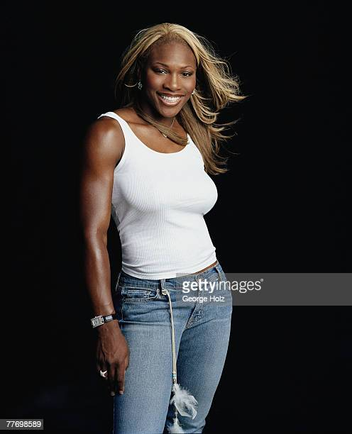 Tennis player Serena Williams is photographed for ESPN The Magazine in July 2002 in Los Angeles California COVER IMAGE