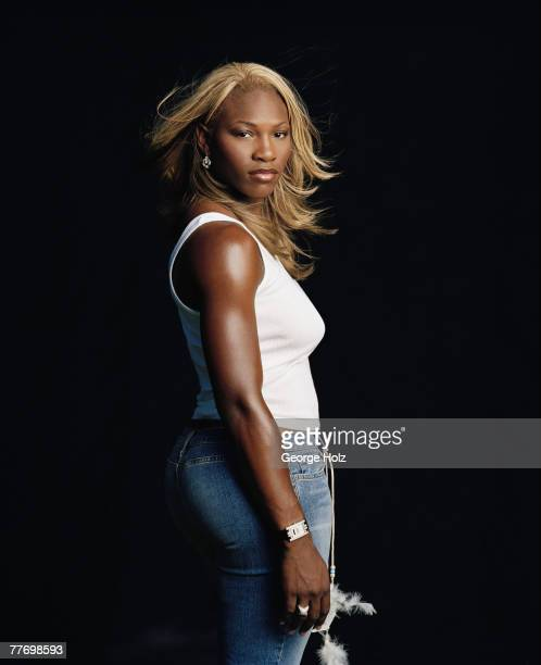 Tennis player Serena Williams is photographed for ESPN The Magazine in July 2002 in Los Angeles California