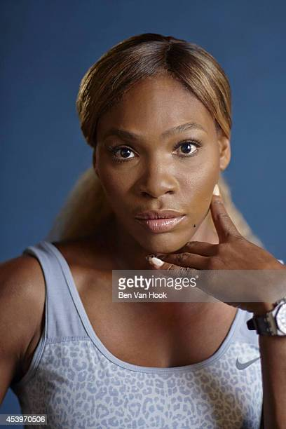 Tennis player Serena Williams is photographed for Sports Illustrated on August 18 2014 in New York City CREDIT MUST READ Ben Van Hook/Sports...