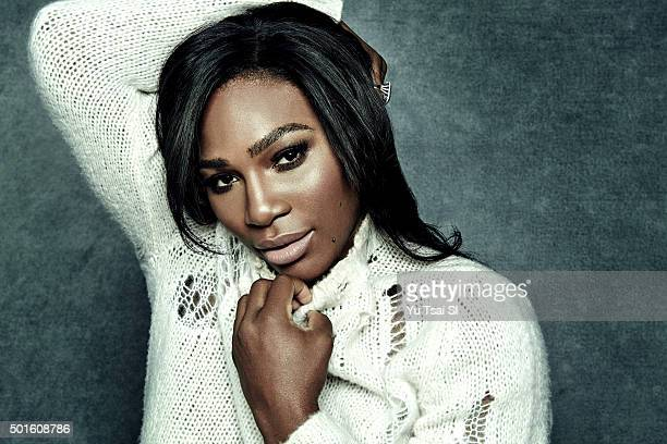 Tennis player Serena Williams is photographed for Sports Illustrated on November 27 2015 in Los Angeles California PUBLISHED IMAGE CREDIT MUST READ...