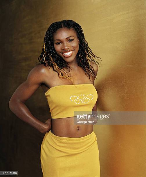 Tennis player Serena Williams is photographed for Teen People Magazine on April 2 2000 at in Palm Beach Gardens Florida