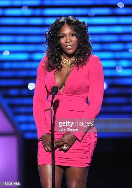 Tennis player Serena Williams speaks onstage at The 2011 ESPY Awards held at the Nokia Theatre LA Live on July 13 2011 in Los Angeles California
