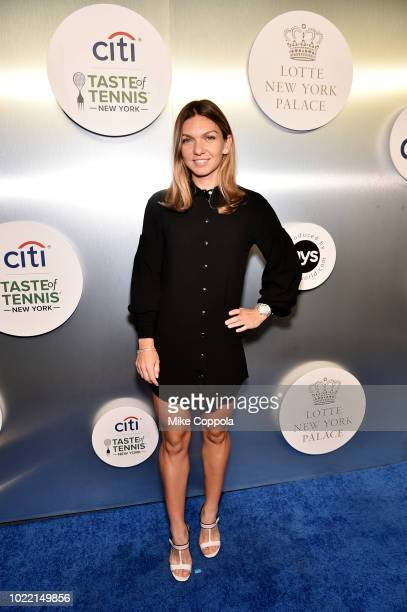 Tennis player Simona Halep attends the Citi Taste Of Tennis gala on August 23 2018 in New York City