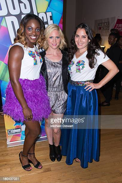 Tennis player Sloane Stephens actress Brittany Snow and designer Stacy Igel attend the Just Dance with Boy Meets Girl Fashion Show at STYLE360...