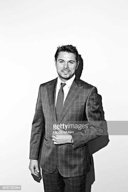 Tennis player Stan Wawrinka is photographed for GQ Italy on February 24 2014 in Milan Italy