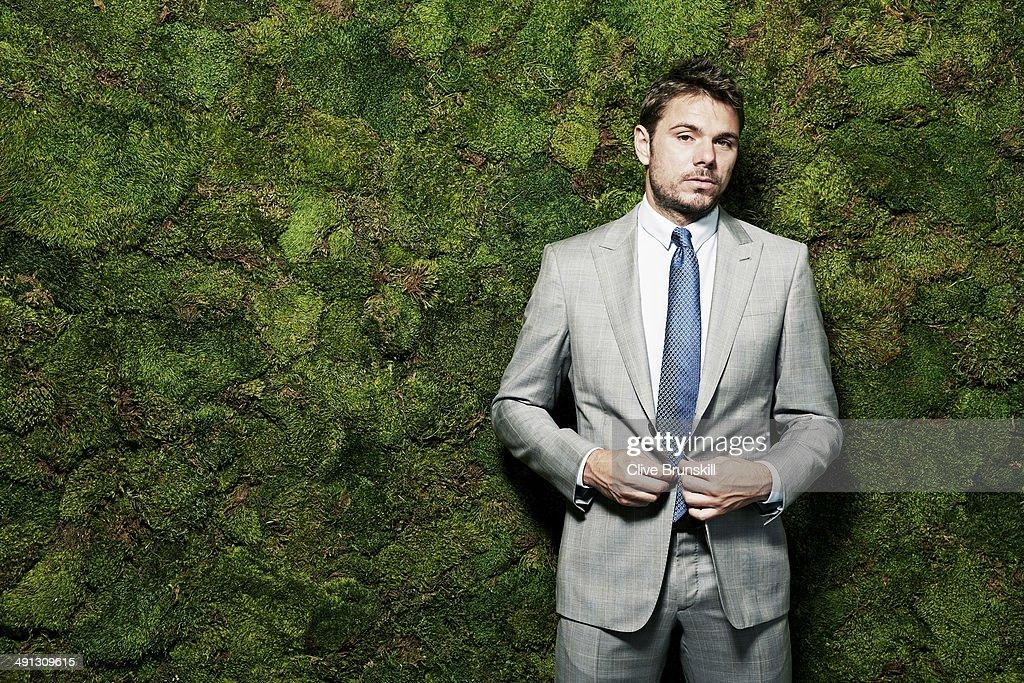 Stanislas Wawrinka, Portrait shoot, March 18, 2014 : News Photo