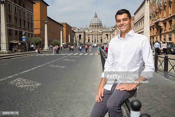 Tennis player Taylor Fritz is photographed for Paris Match on May 8 2016 in Rome Italy