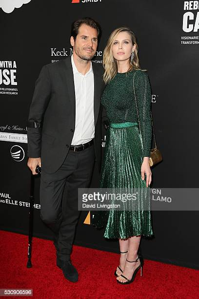 Tennis player Tommy Haas and Sara Foster arrive at the 3rd Biennial Rebels with a Cause Fundraiser on May 11 2016 in Santa Monica California