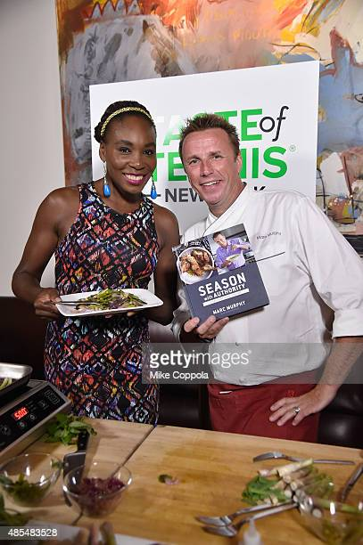 Tennis player Venus Williams and chef Marc Murphy appear at the Taste of Tennis Gala Citigold VIP Lounge during Taste of Tennis Week at W New York on...