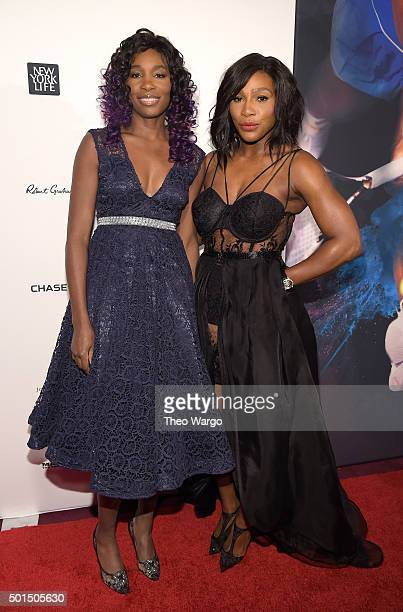 Tennis player Venus Williams and SI 2015 Sportsperson of the Year Serena Williams attends Sports Illustrated Sportsperson of the Year Ceremony 2015...