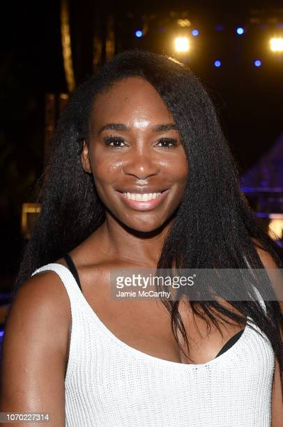 Tennis player Venus Williams attends American Express Platinum House At The 1 Hotel South Beach at 1 Hotel South Beach on December 6 2018 in Miami...