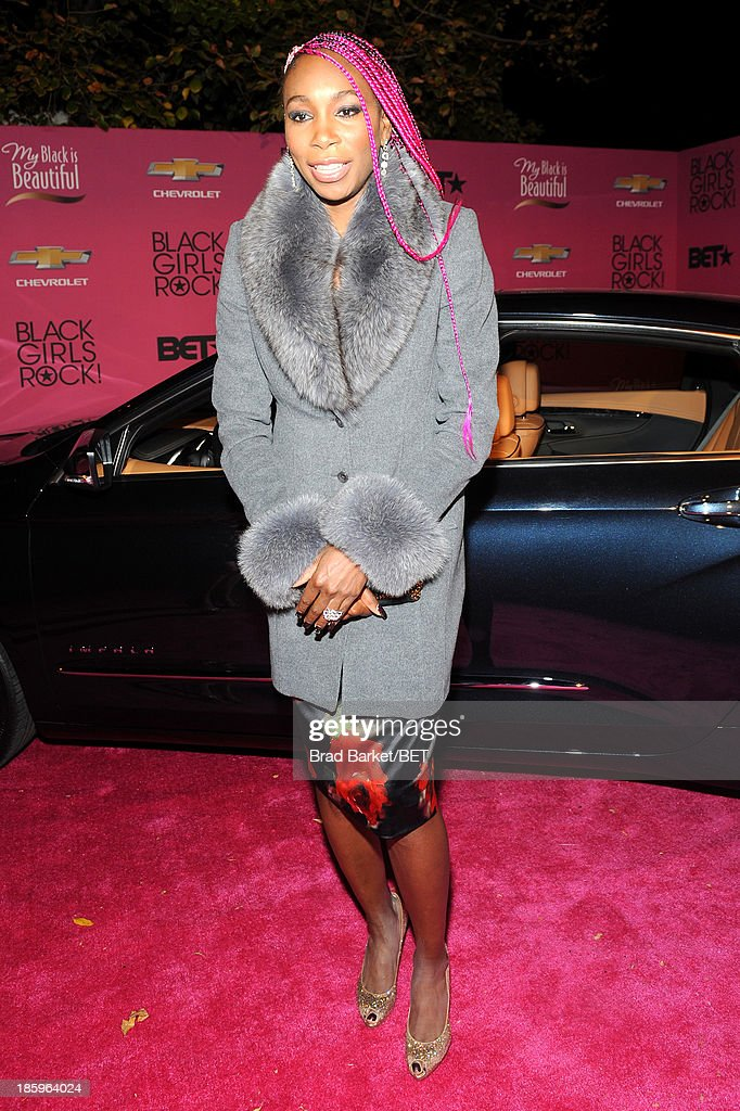 Tennis player Venus Williams attends BET Black Girls Rock arrivals presented by Chevy at New Jersey Performing Arts Center on October 26, 2013 in Newark, New Jersey.